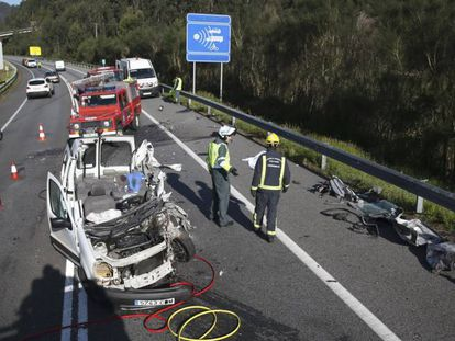 El Corredor del Morrazo, en Moaña (Pontevedra), fue uno de los puntos donde se registró un accidente mortal este sábado.