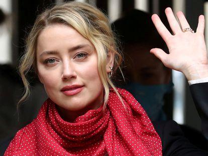 Amber Heard en una imagen tomada el pasado mes de julio en Londres, durante el juicio contra Johnny Depp.