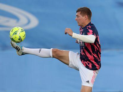 Toni Kroos, el pasado domingo, antes del partido contra el Sevilla en el Alfredo di Stéfano.