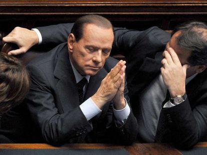 Silvio Berlusconi en el Parlamento italiano.
