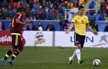 James, durante el partido contra Venezuela.