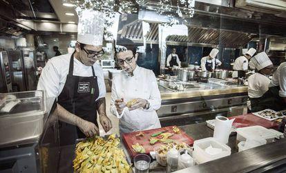 Ruscalleda en la cocina del ya cerrado restaurante Sant Pau.