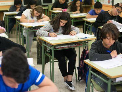 Alumnos de sexto de primaria de una escuela catalana.