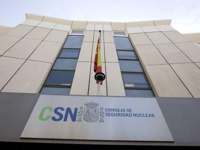 Fachada de la sede del Consejo de Seguridad Nuclear (CSN), en Madrid.