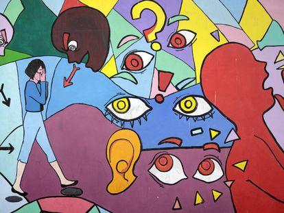 Mural pintado por mujeres en la Zona 18, uno de los barrios más violentos de la ciudad de Guatemala.