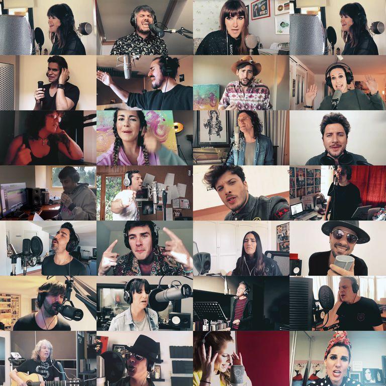 Cantantes que crearon una nueva versión del clásico del Dúo Dinámico 'Resistiré' durante la cuarentena.