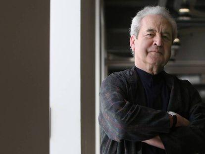 El escritor irlandés John Banville, en Madrid en 2018.