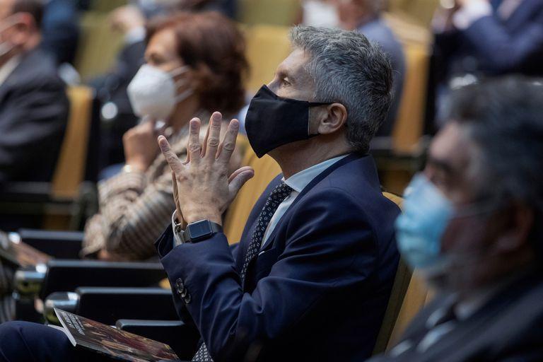 El ministro del Interior, Fernando Grande-Marlaska, en un acto celebrado el pasado 14 de octubre en la sede del Tribunal Constitucional.
