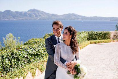 El tenista Rafa Nadal y Mery Perelló, durante su boda celebrada el pasado octubre, en Mallorca.