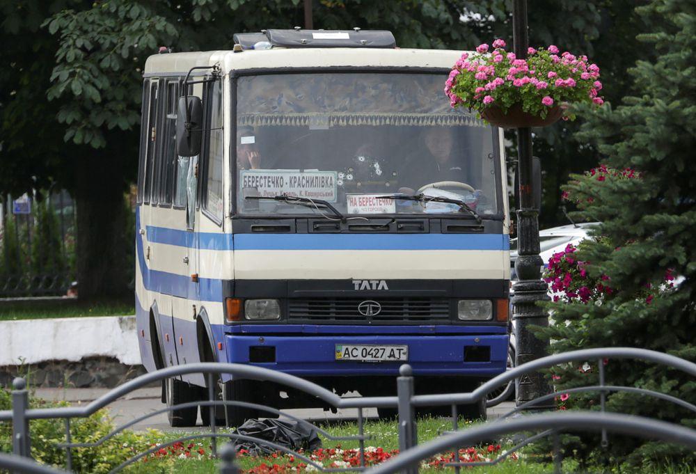 Detenido el secuestrador de un autobús en Ucrania y liberados los 13 rehenes que mantenía desde hace 12 horas