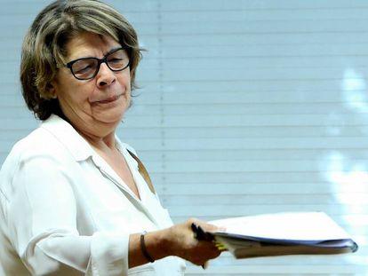 La delegada de Medio Ambiente, Inés Sabanés, en el Ayuntamiento de Madrid.