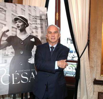 Terzian, en la rueda de prensa en la que se anunció las nominaciones de los César, el 29 de enero, en París.