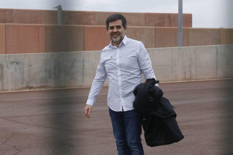 Jordi Sànchez, en una de sus salidas de la cárcel en un permiso.
