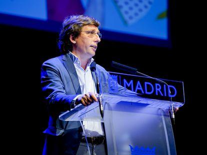El alcalde de Madrid, José Luis Martínez-Almeida, presenta la programación de San Isidro 2021 en el Centro de Cultura Contemporánea Conde Duque.