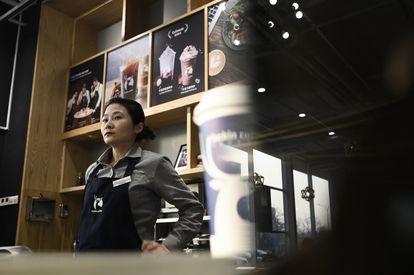 Establecimiento de Luckin Coffee, en China.