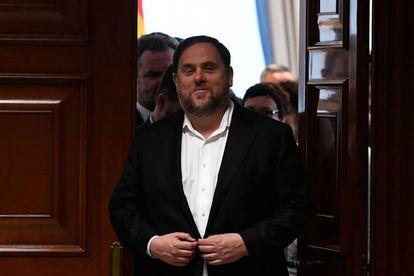 Oriol Junqueras, en el Congreso de los Diputados.