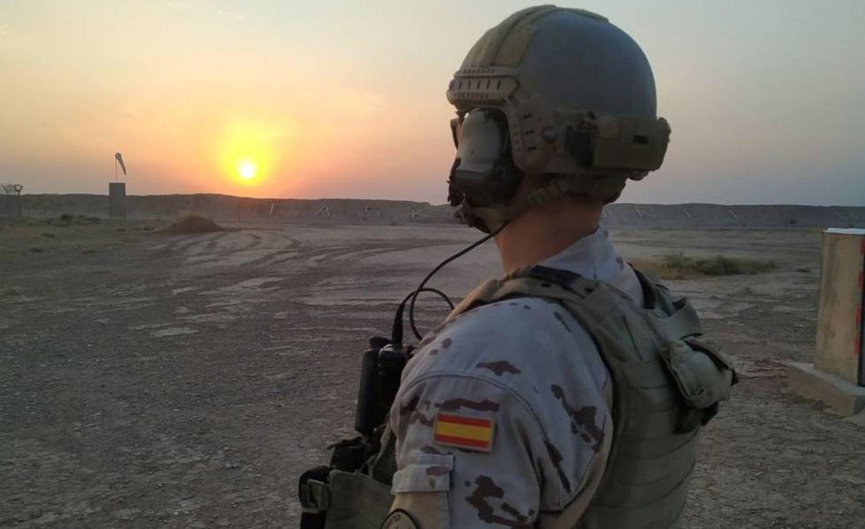 Un militar español en la base Gran Capitán, en Besmayah, Irak.