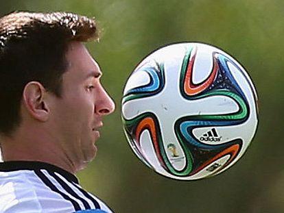 Messi, durante un entrenamiento.