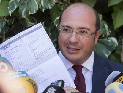 Pedro Antonio Sánchez, en junio de 2017, tras dimitir por el 'caso auditorio'.