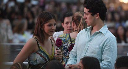 Felipe Marichalar, con si novia Mar Torres.
