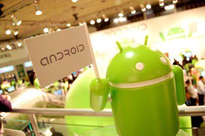El stand de Android.