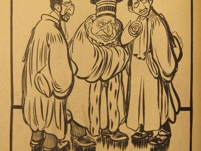 Una de las viñetas de 'Caran d'Ache'.