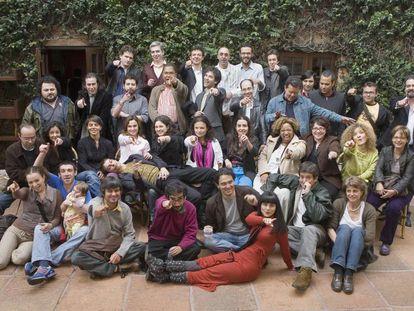 Foto de grupo de los integrantes de la lista Bogotá 39 de 2007.