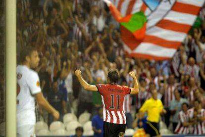 Gabilondo celebra su gol