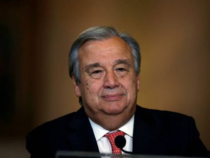 Antonio Guterres, en una reciente comparecencia pública en Lisboa.