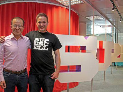 Los consejeros delegados de Tencent y Supercell.
