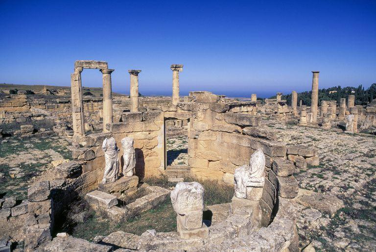 Templo en Cirene (Libia), una de las antiguas grandes colonias griegas en la región.