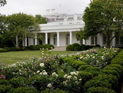 Una de las vistas del restaurado Rose Garden de la Casa Blanca, este sábado.