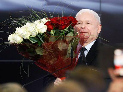 Kaczynski, tras conocer los resultados.