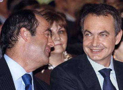 José Bono y Zapatero en el mitin celebrado hoy en Toledo