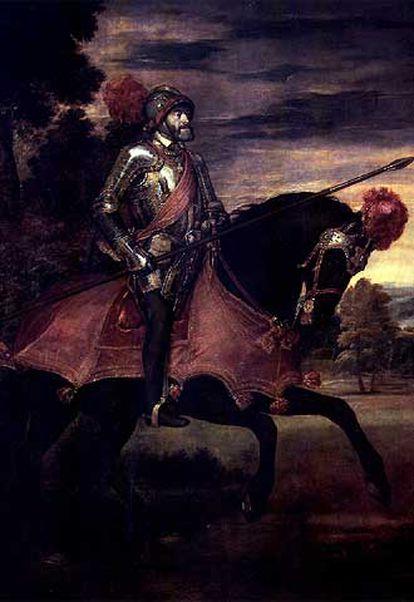 <i>Carlos V en la batalla de Mühlberg</i>, de Tiziano, perteneciente a la colección del Museo del Prado.