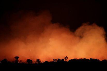 Incendio en la selva amazónica cerca de Humaita, estado de Amazonas (Brasil), el 17 de agosto de 2019.