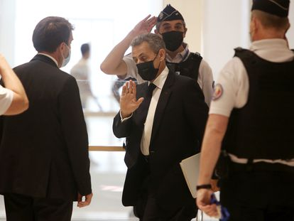 Sarkozy llega este martes al tribunal en el que ha comparecido acusado de financiación ilegal de su campaña electoral