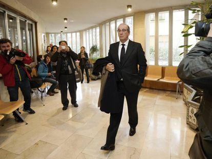 Francis Franco Martínez Bordiú llegando a los juzgados de Teruel el pasado 22 de enero.