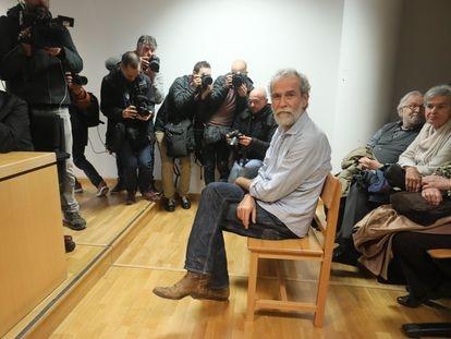 Willy Toledo, durante el juicio celebrado en el Juzgado de lo Penal 26 de Madrid, a principios de 2020.