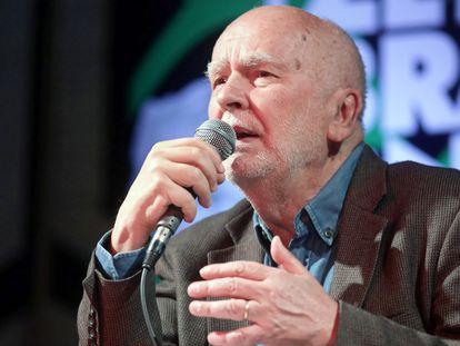 Adam Zagajewski, en octubre de 2019 en Bialystok (Polonia).