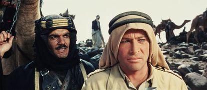 Fotograma de 'Lawrence de Arabia', con Omar Sharif y Peter O'Toole.