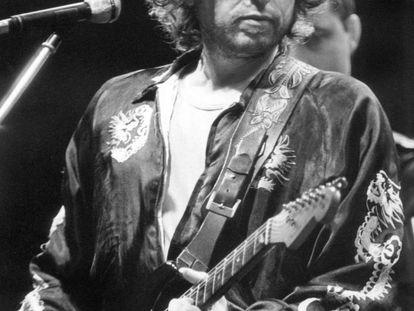 Bob Dylan, en una actuación en Múnich, Alemania, en 1981.