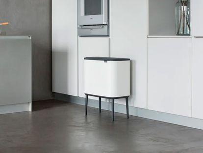 Estos cubos basura combinan con cualquier decoración.