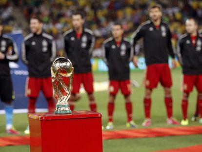 El trofeo del Mundial, en el Soccer City.