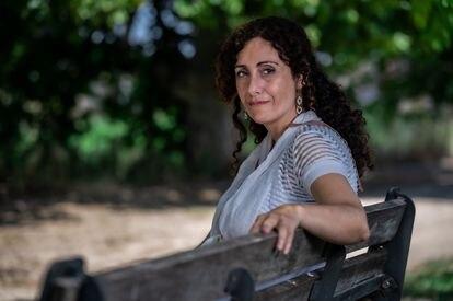 Paloma Delgado, el pasado jueves en Zaragoza.