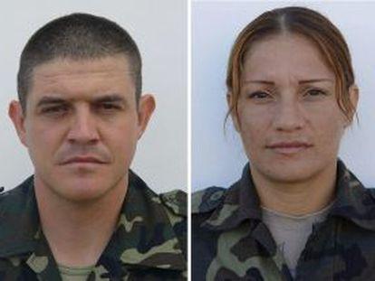 El sargento Manuel Argudín y la soldado Niyireth Pineda.