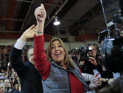 Díaz llega a un acto con alcaldes en Madrid.