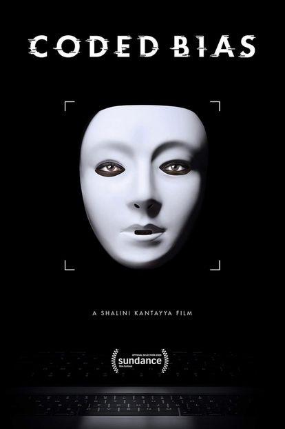 Poster de la película documental 'Coded Bias', disponible en Netflix. Centrada en el trabajo de Joy Buolomwini, explora el lado oscuro de la inteligencia artificial y los sistemas de reconocimiento facial.