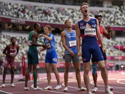 Warholm, tras bajar la barrera de los 46s en los 400m vallas.