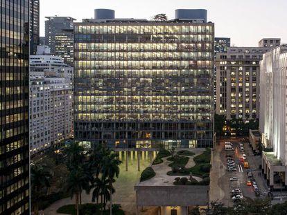 El edificio Gustavo Capanema, conocido como palacio Capanema, en Río de Janeiro.